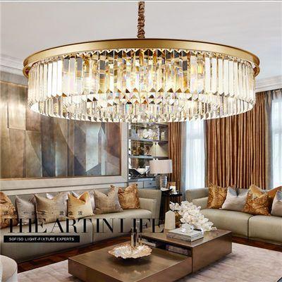客厅灯欧式圆形创意个性卧室餐厅大厅简约大气后现代吸顶水晶吊灯