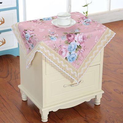 新款床头柜盖巾盖布欧式蕾丝小圆桌桌布防尘罩布万能盖巾多用巾