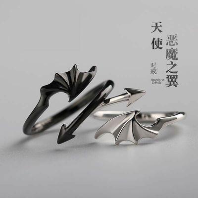 韩版活口时尚情侣戒指简约气质一对学生开口情侣对戒礼物戒指男款
