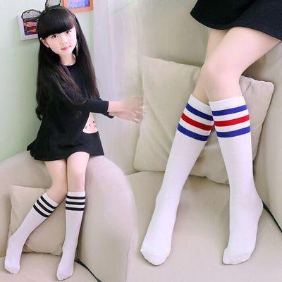 2双装男女童袜子中筒袜中小学生儿童长筒袜过膝棉足球棒球袜