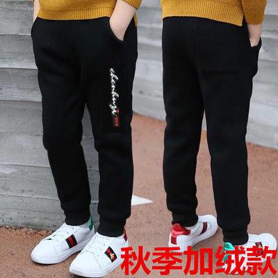 男童2019秋冬加绒款裤子男女童保暖长裤中大童男孩休闲裤单裤
