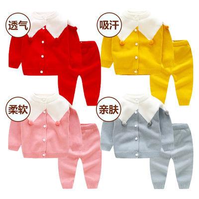 宝宝外套女男宝宝毛衣婴儿毛衣套装针织衫开衫冬春秋洋气0-2岁