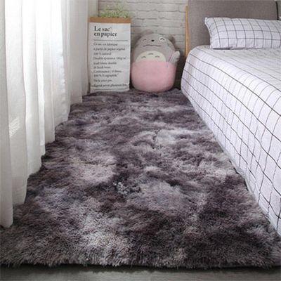 渐变色家用地毯床边毯卧室满铺地毯茶几垫长毛绒个性网红地毯地垫