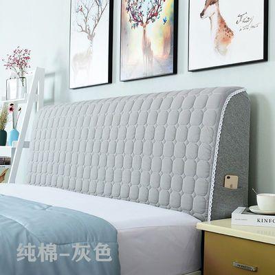 全包布艺床头套简约现代欧式软包床头套罩弧形靠背罩防尘保护套罩
