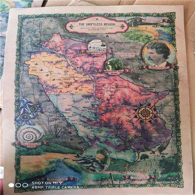 复古羊皮地图,羊皮卷成品地图,影视道具真皮