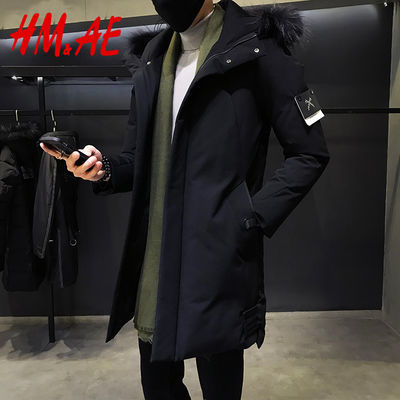 【HMAE专柜正品】冬季男士棉衣中长款青年韩版加厚棉服潮男装外套
