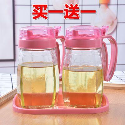 大玻璃油瓶家用厨房用品定量油罐子酱油瓶塑料盖小醋壶装倒香油壶