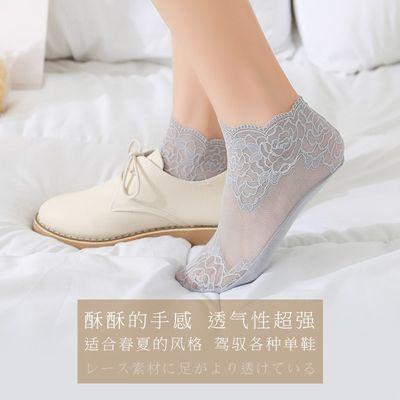 【五双装】韩版女学生薄款袜子夏中筒袜蕾丝花边短袜公主网纱性【3月6日发完】