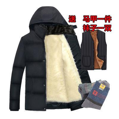中老年男装冬季棉衣爸爸装冬装棉服外套加绒加厚中年男士老年棉袄