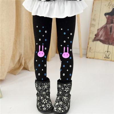 女童打底裤加绒加厚保暖秋冬季小孩儿童棉裤子外穿长裤