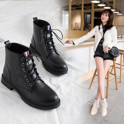 【软底软面】马丁靴女秋冬季新款韩版短筒靴学生平底网红雪地靴
