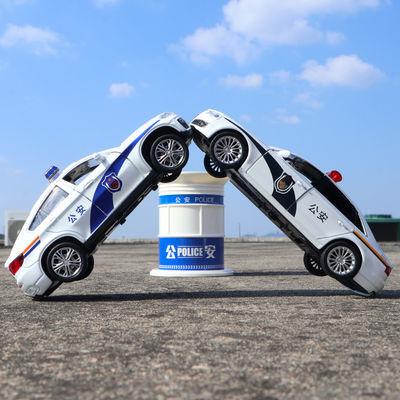 警车玩具汽车模型仿真110车模回力车合金小汽车120救护车儿童男孩
