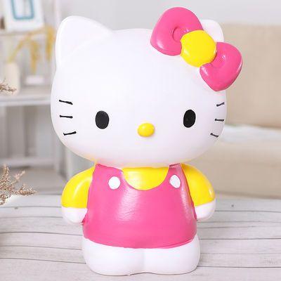搪胶防摔KT猫存钱罐超大号创意可爱儿童储蓄罐女生生日礼物送闺蜜