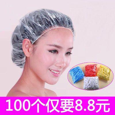 【特价】加厚一次性防水浴帽防尘套成人款头套头帽洗头帽�h油染发