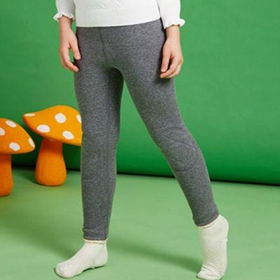 新款男童女童保暖裤加绒加厚打底裤内穿棉裤儿童护膝绒裤子秋冬款