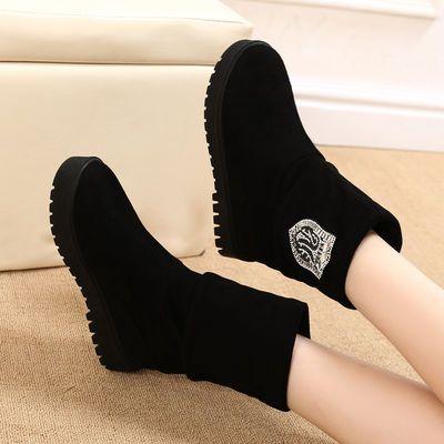 一鞋两穿马丁靴女春秋冬新款内增高百搭短靴加绒保暖靴长靴短筒靴