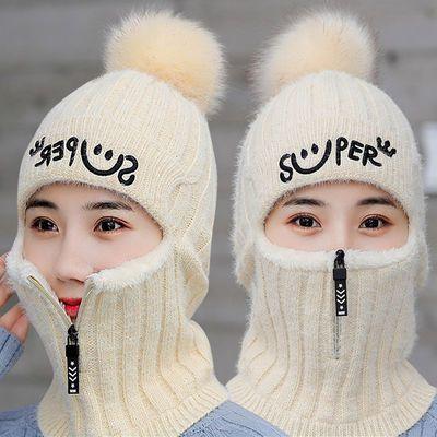 【四合一】口罩耳罩帽子围脖一体秋冬季男女百搭学生毛线加厚保暖主图