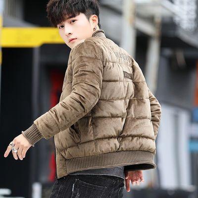 冬季棉衣男立领韩版青年加厚修身棉服男短款男士加绒棉袄外套男装