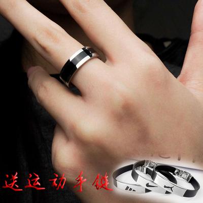 钛钢男士戒指霸气复古个性配饰女戒指情侣对戒指环女戒指韩版时尚