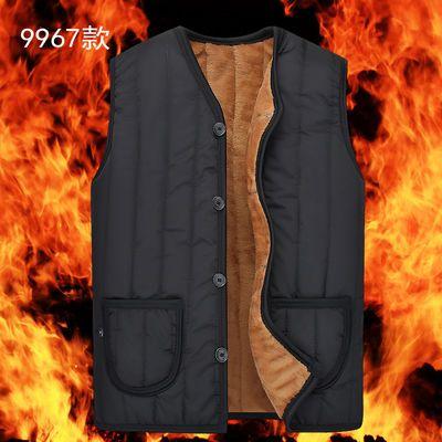 新款秋冬中老年马甲男士爸爸装保暖加绒加厚大码棉衣马夹坎肩背心