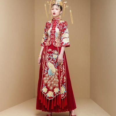 秀禾服新娘2019新款婚纱中式秀禾结婚禾服礼服禾秀服显瘦秀和服女