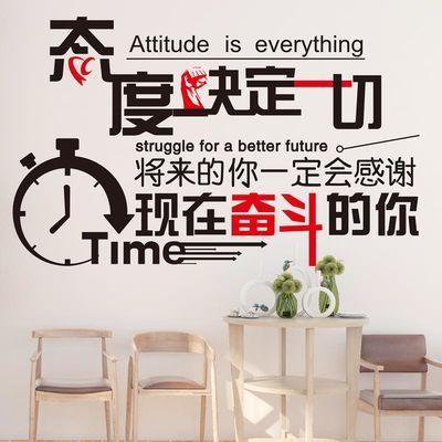 励志贴纸墙贴画办公室班级教室黑板报布置装饰宿舍公司文化墙标语