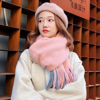 围巾女冬季款学生韩版百搭加厚女士长款保暖披肩毛线针织软妹围脖