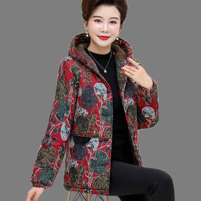 妈妈装冬装棉衣中老年女装秋冬季棉服中年大妈棉袄外套加厚加绒
