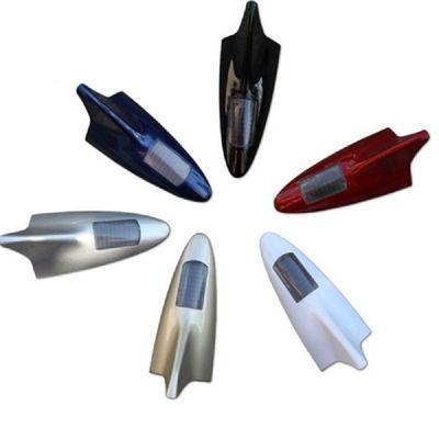 汽车用品防追尾LED爆闪灯太阳能鲨鱼鳍无线警示灯汽车改装天线灯