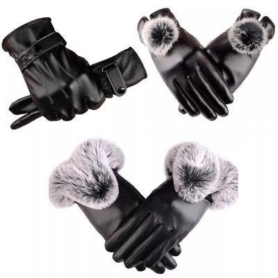 男女款触屏皮手套冬季骑行保暖防水防风加绒加厚手套冬骑车摩托车