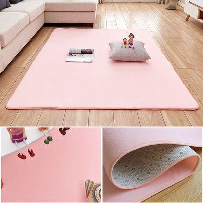简约现代珊瑚绒地毯客厅茶几地垫家用房间卧室床边满铺可爱可定制