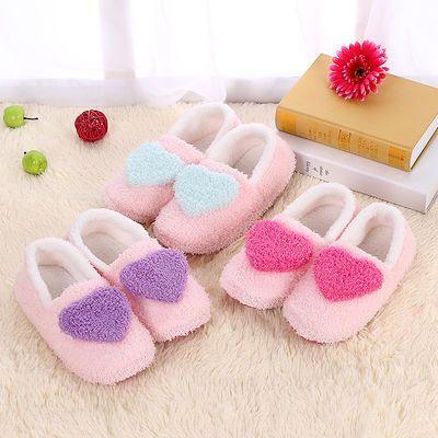 秋冬季室内家居家用棉拖鞋包跟男女情侣防滑厚底保暖月子毛绒棉鞋