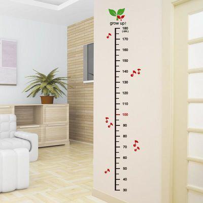 身高墙贴3d立体贴画宝宝儿童小孩墙面装饰贴纸测量身高尺贴可移除