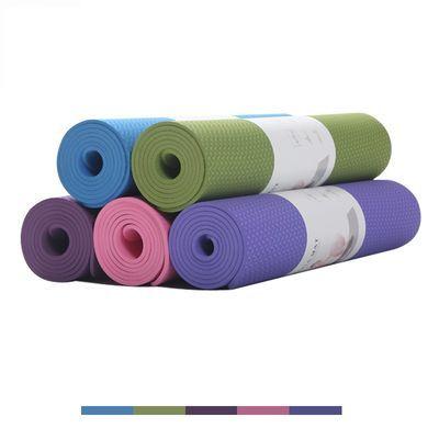2019新款瑜伽垫子TPE无味男女初学者加宽加厚防滑运动瑜珈健身垫