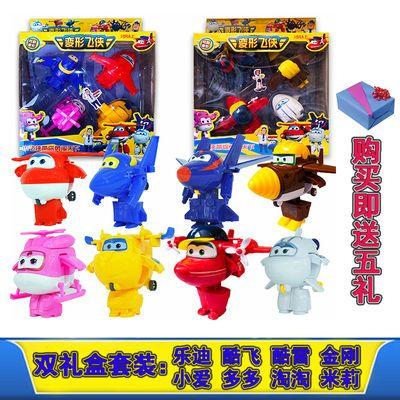 爆款超级飞侠玩具套装全套变形机器人乐迪小爱多多包警长一套玩具