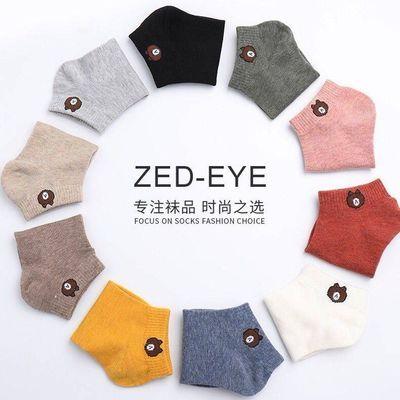 冬季女士加厚纯棉毛圈五指袜保暖中筒高腰韩版加绒毛巾袜子4双装