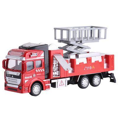 爆款儿童玩具车合金工程车模型回力车垃圾车油罐车洒水车小孩惯性