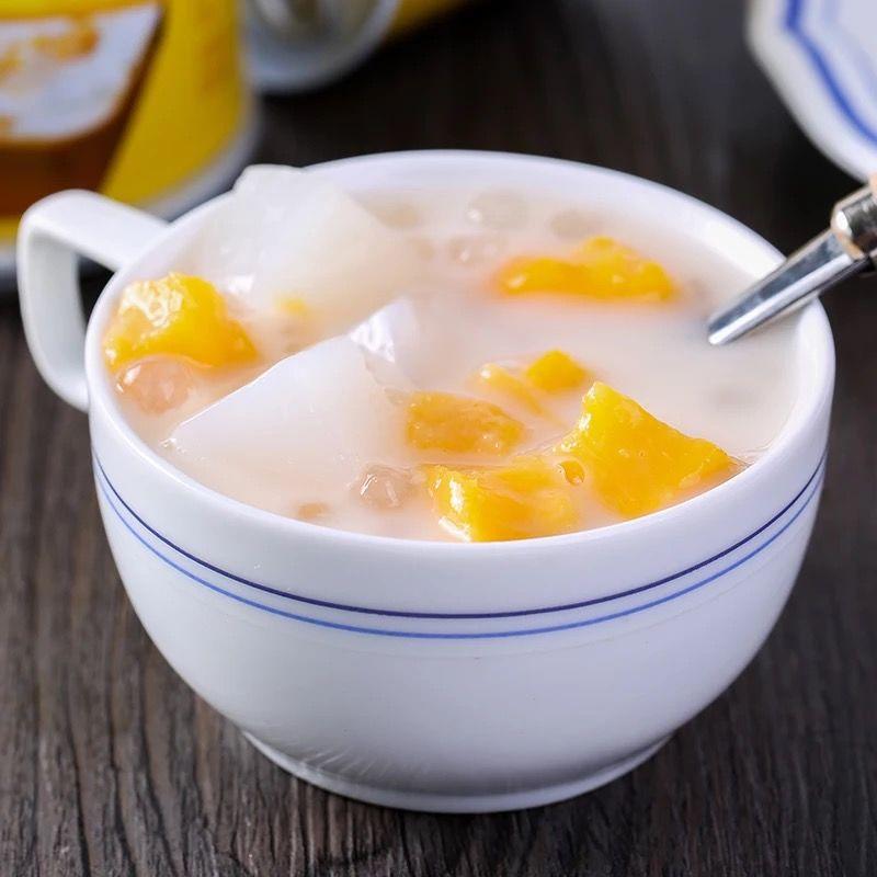 【酸甜可口】皮奇酸奶黄桃西米露罐头3罐*312g甜品