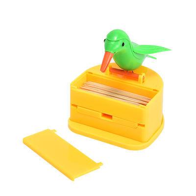 抖音同款带翅膀小鸟牙签盒创意自动弹出按压式家用牙签筒时尚摆件