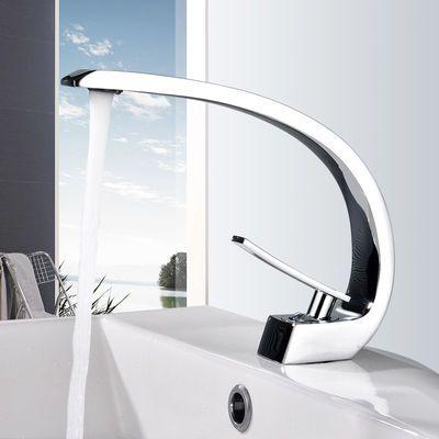 全铜黑色洗脸盆冷热水龙头卫生间面盆浴室柜洗脸池单孔台盆洗手盆