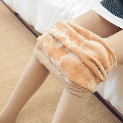 孕妇裤袜秋冬加绒加厚外穿冬季打底裤肉色丝袜孕晚期保暖裤连体裤