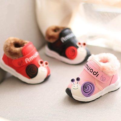 大棉二棉鞋秋冬季宝宝棉鞋女一岁儿童软底加绒鞋短靴子保暖学步鞋