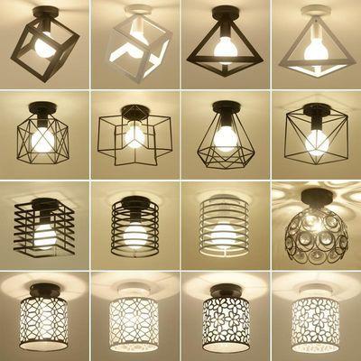 吸顶灯北欧走廊灯过道灯玄关入户阳台衣帽间卧室灯现代简约小灯
