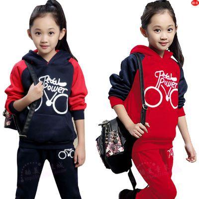 厂家清仓拜年服男童女童衣服套装小女孩春秋冬天新款童装加绒衣服
