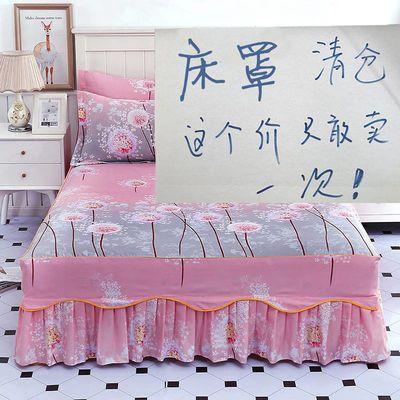 新款床罩床裙三件套韩版公主风床单单件防尘防滑床套加厚床笠床盖