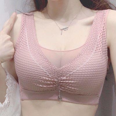 【90-200斤胖MM】大胸显小薄款大码内衣女文胸无钢圈抹胸聚拢胸罩