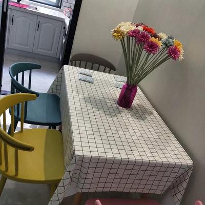 【限时特价】简约桌布小清新桌布防水防油免洗桌布PVC方格圆桌布