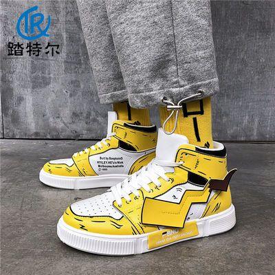 皮卡丘空军1号AJ1联名鞋高帮情侣鞋秋季2019新款韩版潮流百搭潮鞋
