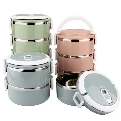 苏泊尔保温饭盒304不锈钢超长保温桶24小时真空便当盒3层学生提