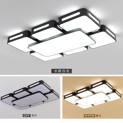 2019新款客厅灯长方形LED吸顶灯简约现代大气卧室灯天空之城灯具